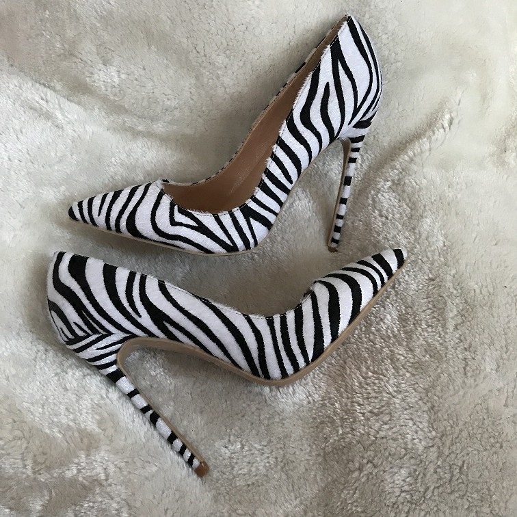 Carpaton Hot Selling Black White Striped High Heel Shoes 2018 Sexy Pointed Toe Zebra Printed Thin Heels Shoes Stiletto Heels швейная машина vlk napoli 1200 белый
