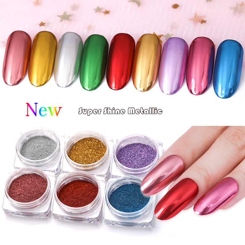 BORN QUEEN 0.5g Mirror Glitter Powder Metallic Color Nail Art UV Gel Polishing