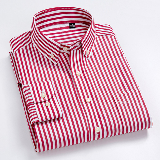100% Cotton High-Grade Oxford Striped Social Shirts  3