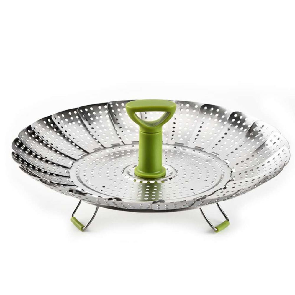 Stainless Steel Telescopic Folding Steamer, Lotus Fruit Pot, Steamed Pot Steamer, Leachate  3
