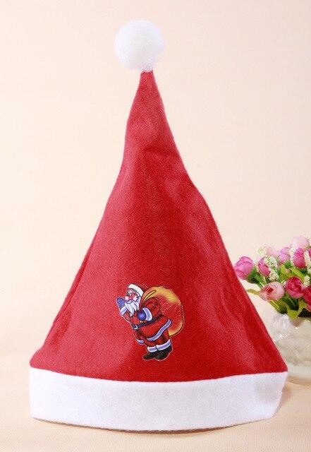 0bc069a98389b New Soft Christmas Cap Adult Christmas Hats Santa Hat Lovely Economical