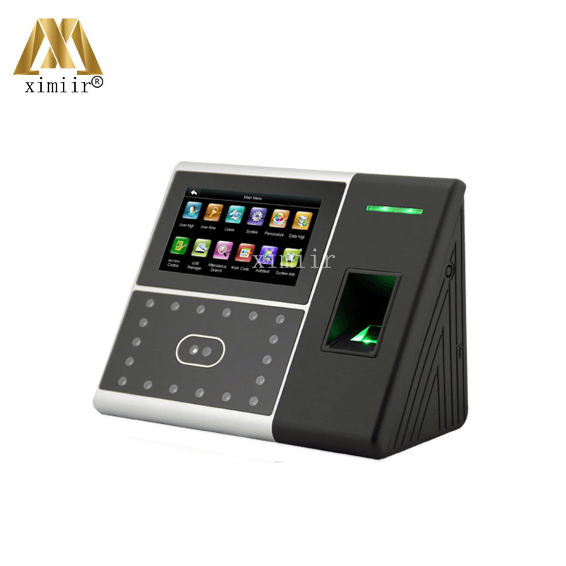 Good Quality High Speed Face Time Attendance Face recognition Time Clock With Fingerprint Door Access Control System ZK Iface302
