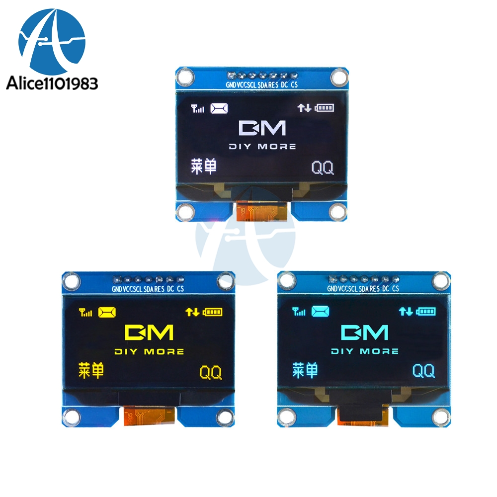 1.54 Inch 7PIN 1.54 White/Blue/Yellow OLED Display Module 128x64 IIC I2C SPI Interface OLED Screen Board SPD0301 Drive 3.3-5V1.54 Inch 7PIN 1.54 White/Blue/Yellow OLED Display Module 128x64 IIC I2C SPI Interface OLED Screen Board SPD0301 Drive 3.3-5V