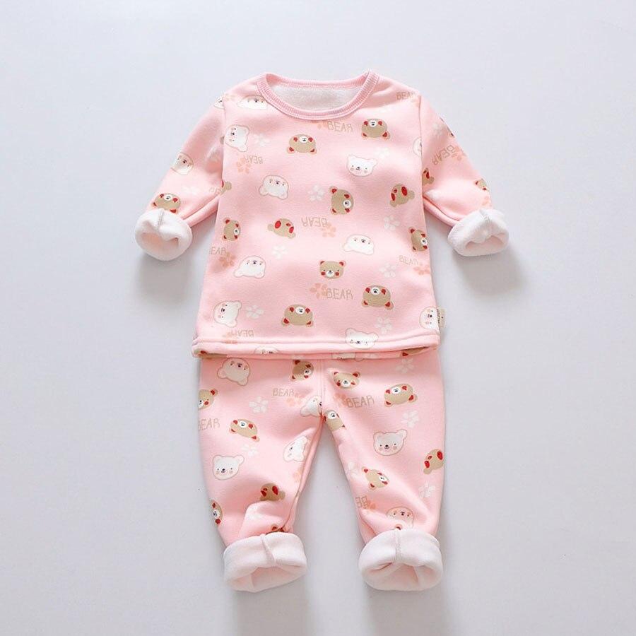 Schlussverkauf Mädchen Pyjama Set Winter Baby Warm Samtverdickung Langen Ärmeln Tops + Hosenanzug 2 Stücke Kinder Kinder Kleidung Set Jungen Pyjamas GroßE Auswahl;