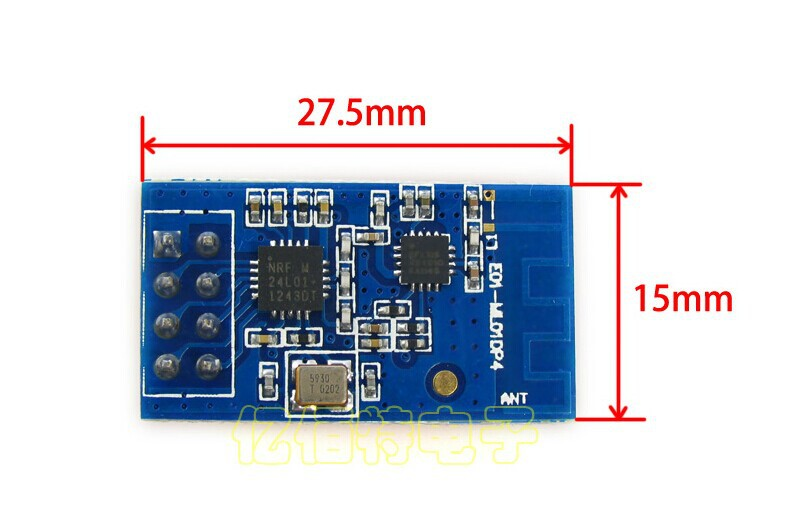 Freeshipping nRF24L01P+PA+LNA Low power wireless module 100mW 900m freeshipping rs232 to zigbee wireless module 1 6km cc2530 chip