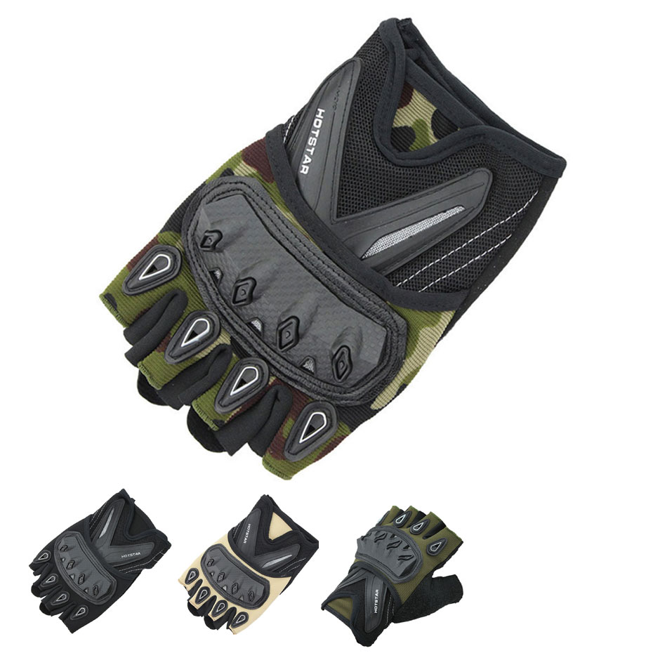 Hard shell half-finger Tactical Gloves Military Enthusiasts Outdoor Field Game Half Gloves Parkour Running Gloves