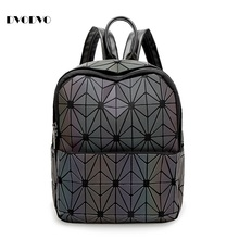 DVODVO New BaoBao Luminous sac Backpacks  Geometry Quilted Girl Backpack Geometry Package Sequins Folding Bao Bao School Bags