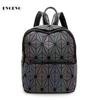 DVODVO New BaoBao Luminous Sac Backpacks Geometry Quilted Girl Backpack Geometry Package Sequins Folding Bao Bao
