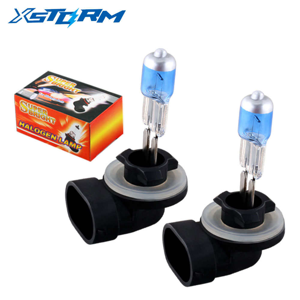 2pcs 881 894 H27 Halogen Bulbs 27W Super White Headlights Fog Lamps Daytime Running Parking 12V Car Light Source