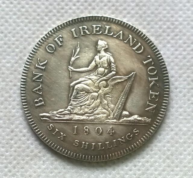 1804 Ireland Bank Dollar 6 Shillings Copy Coins Commemorative Replica Medal Collectibles Badge