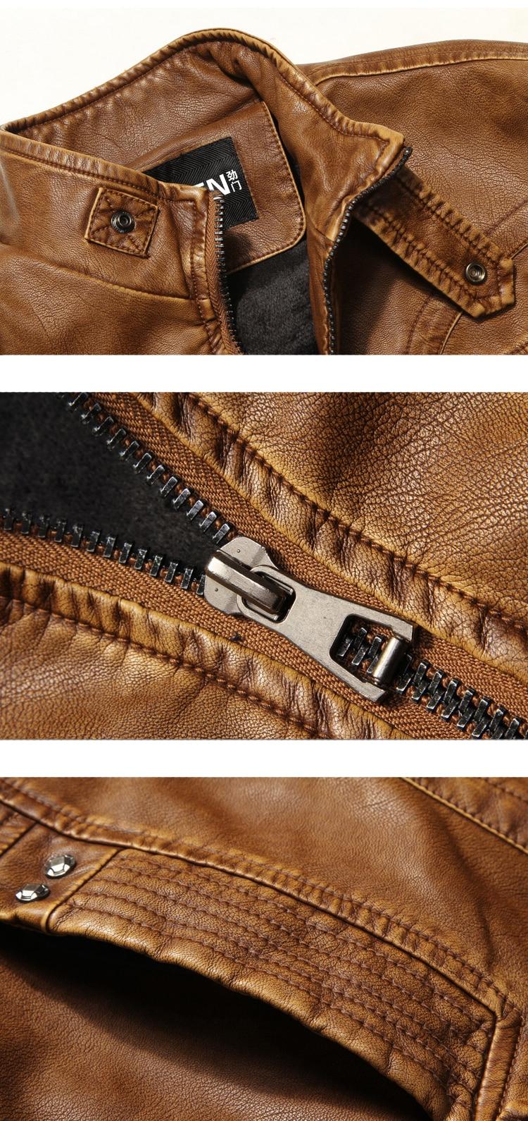 Dimusi outono inverno dos homens do plutônio jaqueta de couro da motocicleta casacos de couro masculino negócios casacos de couro jaqueta de couro masculin