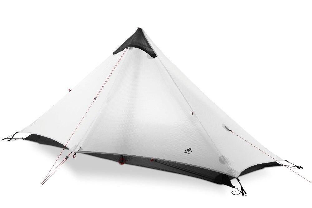 3F UL GEAR 1 personnes Oudoor ultra-léger tente de Camping 3 saison 1 personne seule professionnelle 15D Nylon silicone revêtement tente sans fil