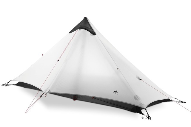 3F UL GEAR 1 People Oudoor Ultralight Camping Tent 3 Season 1 Single Person Professional 15D Nylon Silicon Coating Rodless Tent