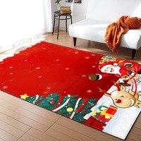 American modern style Christmas series living room carpet bedroom restaurant floor mat red festive carpet size can be customized