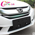 Car-Styling ABS Chrome Front Grille Decorative Trim Grille Protector Cover Sticker For Honda New City 2015 2016 Car Accessories
