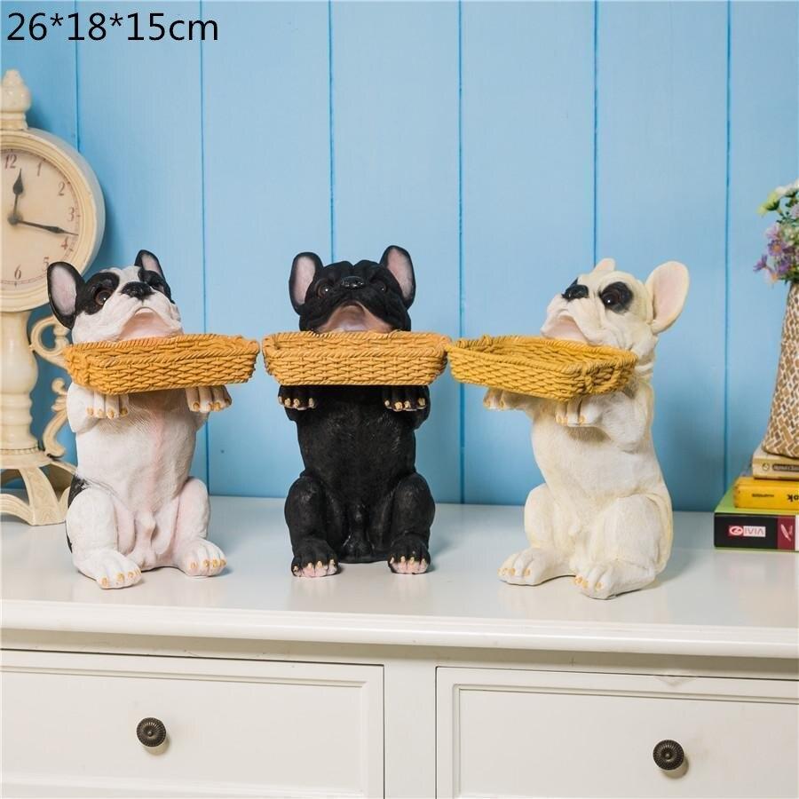 Nordic Lucky Dog Geometric Animal Sculpture Ornament Decorations