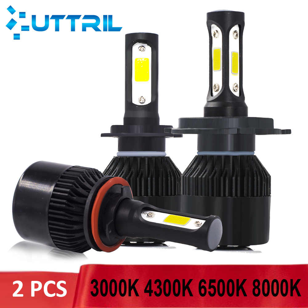 Uttril H4 LED H7 LED 3000K 4300K 6500K 8000K H1 H3 880 881 H8 H11 9005 9006 LED Bulb Car Headlight Auto Fog Light For Car 12V