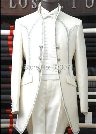 Custom made TO MEASURE Top Selling New Groom Tuxedos Men's Suits Groomsman Bridegroom Wedding Dress (Jacket+Pants+Girdle)