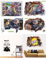 Cartoon Despicable Me 2 Minions 3D and Mini Models Nick Fox Judy Rabbit Wall Stickers for Kids Rooms Removable PVC Wall Decal