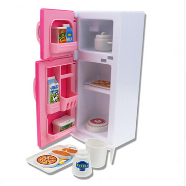 New Play Set Girls Toys Doll House Furniture Refrigerator