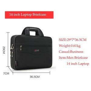Image 4 - 防水ビジネス男性 14 インチのラップトップブリーフケースバッグ高品質カジュアルハンドバッグ男性の事務所バッグコンピュータショルダーバッグ