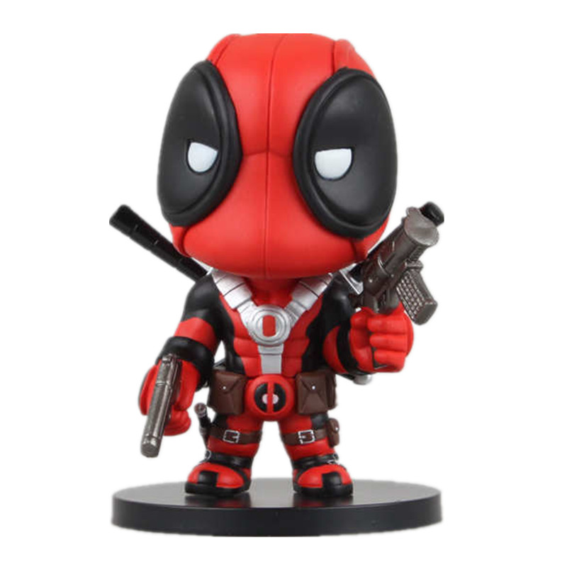1 Pcs 14 CM New Version X-men Deadpool PVC Doll Action Figure Toys Kids Hot Toys Marvel Deadpool Movie Comics Juguetes For Boys