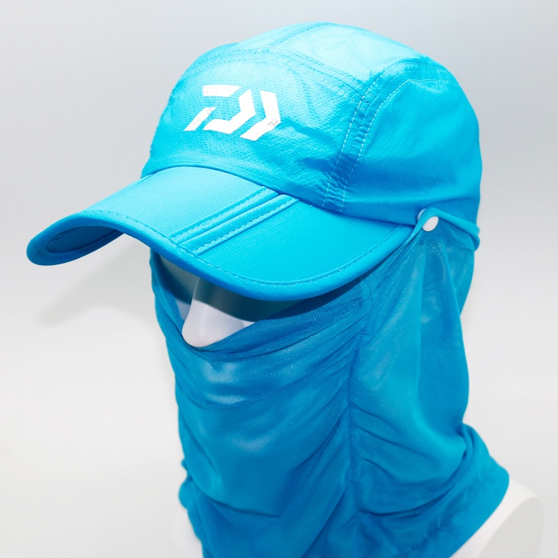 Dawa Fishing Hat Outdoor Hiking Camping UV Protection Face Neck Cover Foldable Fishing Cap Visor Hat Neck Face Flap Hat in Fishing Caps from Sports Entertainment