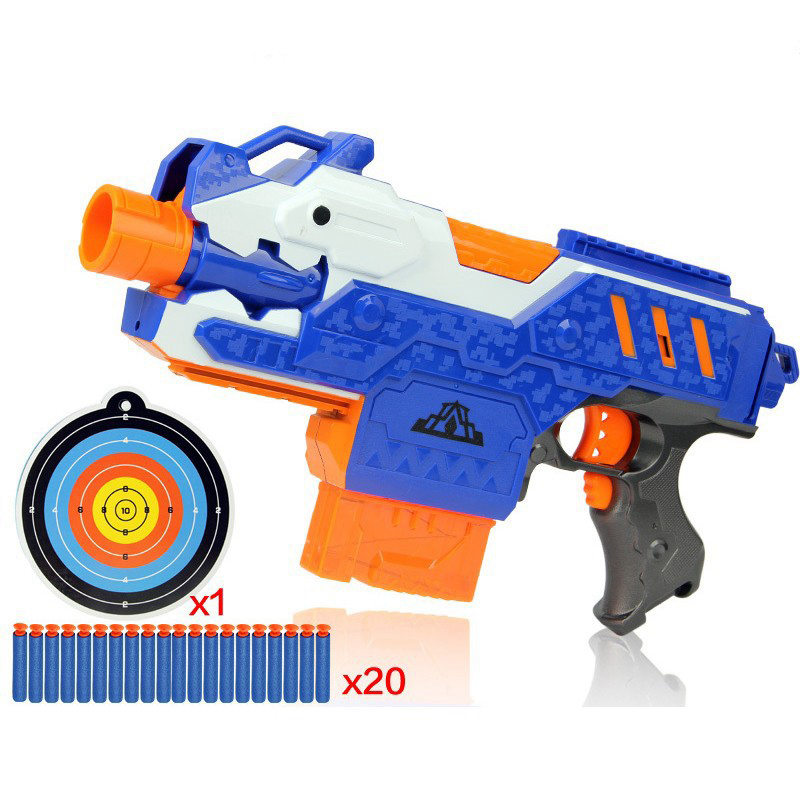 Target Toy Guns : Electric plastic toy guns target bullets soft bulle