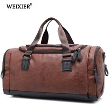 WEIXIER Brand 2019 Multifunctional Casual Bag New Women Hand bag PU Leather Large Capacity Men Fashion Luggage Travel