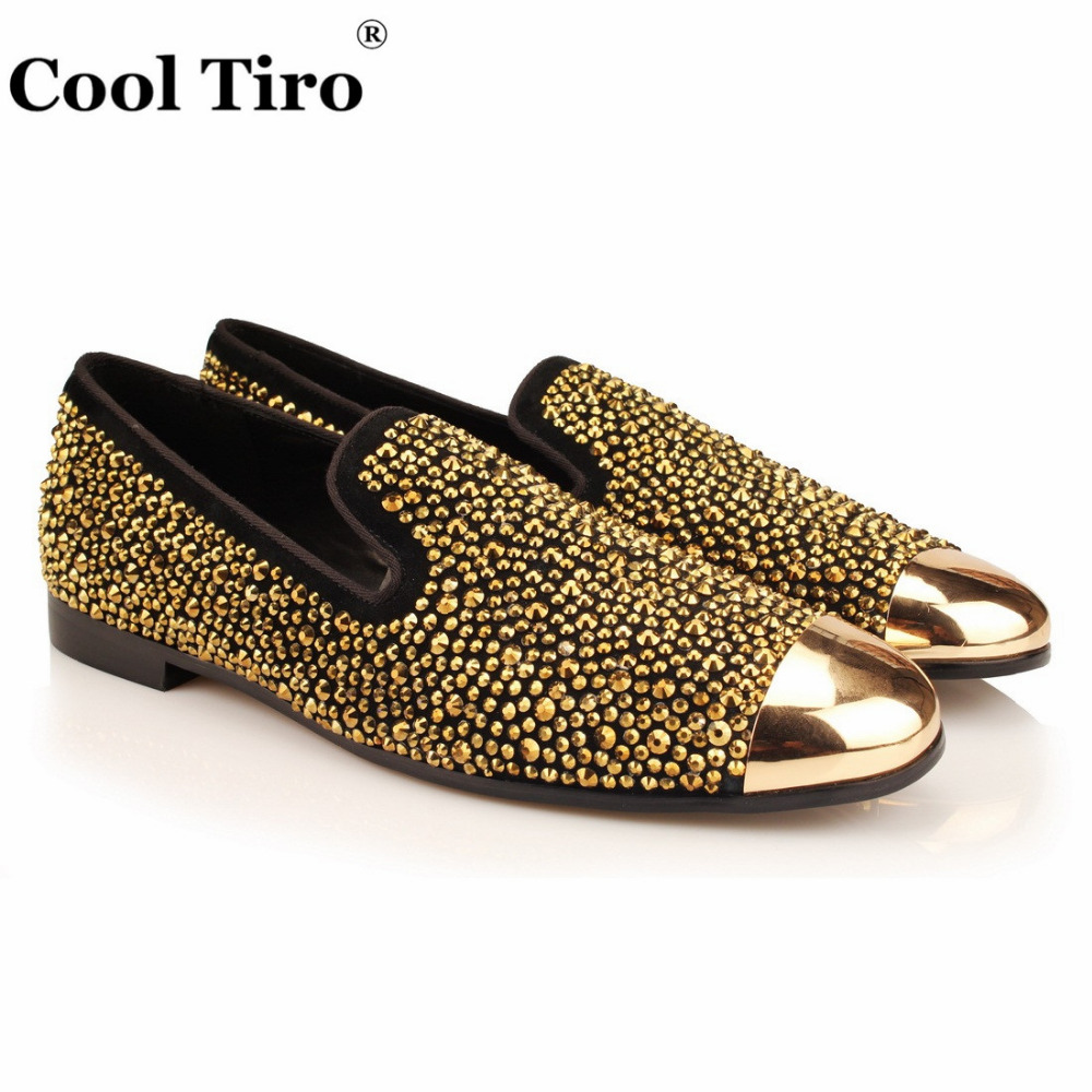 9588f4e1541b Black suede men loafers gold crystal strass loafers leather slippers jpg  1000x1000 Loafers with gold
