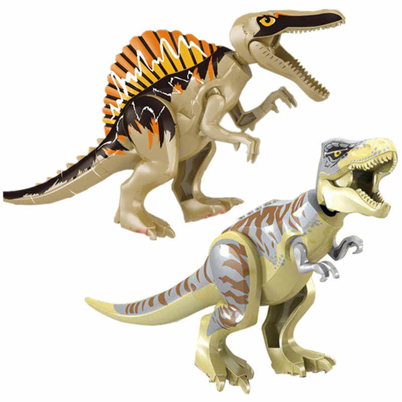 2019 Jurassic World Park Raptor Dinosaurs Spinosaurus Indoraptor Figures Building Blocks Bricks Learning For Children Gift Toys