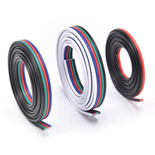 2pin 4pin 5pin Portable LED RGB Cable Wire Extension Cord Fairy Light Strip For Lamp 1 Meter/lot