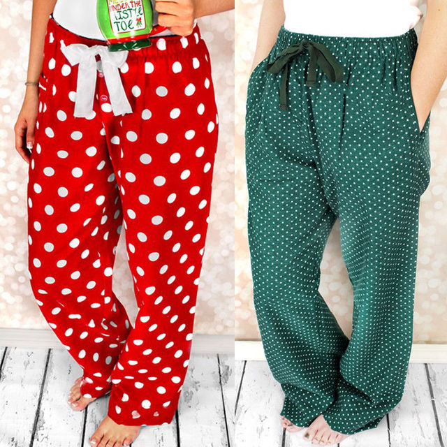 Women Men Fashion Pyjama Bottoms Cotton Long Pants Trousers