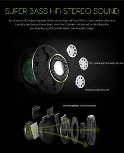 Image 2 - ワイヤレスヘッドフォン Bluetooth ハイファイステレオヘッドセットとマイク FM ラジオマイクロ SD カード再生 Led ディスプレイスクリーンイヤホン