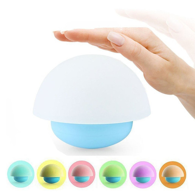 Tumbler Mushroom Design Colorful Night Light Touch Sensor Dimmable LED Nightlights with Softlight, Stronglight and 7 Colorful