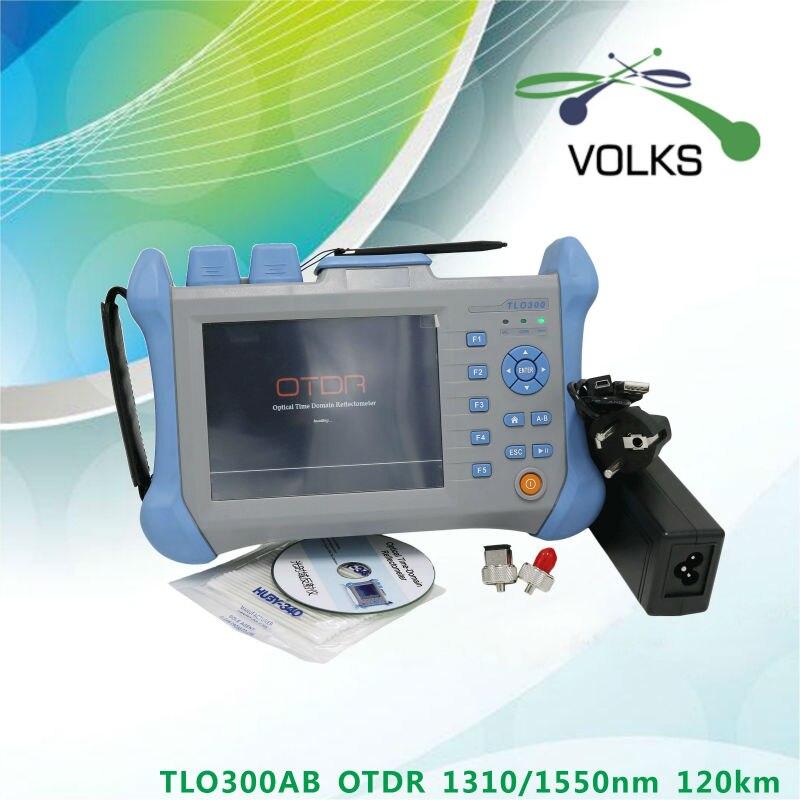 Handheld OTDR tester di fibra 1310/1550nm 120 km con Inglese Espanol 32/30dB