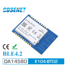 1Pcs DA14580 Bluetooth 4.1 rf Module Transceiver E104-BT02 SMD CDSENET 100m Wirelss Transmitter and Receiver 2.4g rfModule