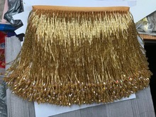 red Handmade 15cm wide beaded fringe trimming,5yard, about 270 beads threads/yard SGTM11