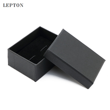 Lepton Black Paper Cufflinks Boxes 20 PCS/Lots High Quality Black matte paper Jewelry Boxes Cuff links Carrying Case wholesale