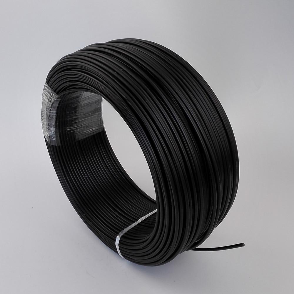 150 Метров Черный PE пластиковые волоконно-оптический кабель, внутренний 3 мм конец свечение волоконно-оптический кабель для DIY волокна плават…