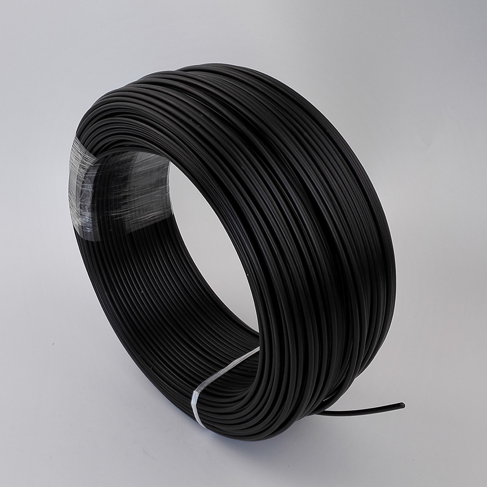 150meters Black Pe Plastic Fiber Optic Cable Inner 3mm