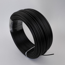 Black PE plastic fiber optic cable, single core, end glow 3 mm cable with 4 jacket for DIY star ceiling kit