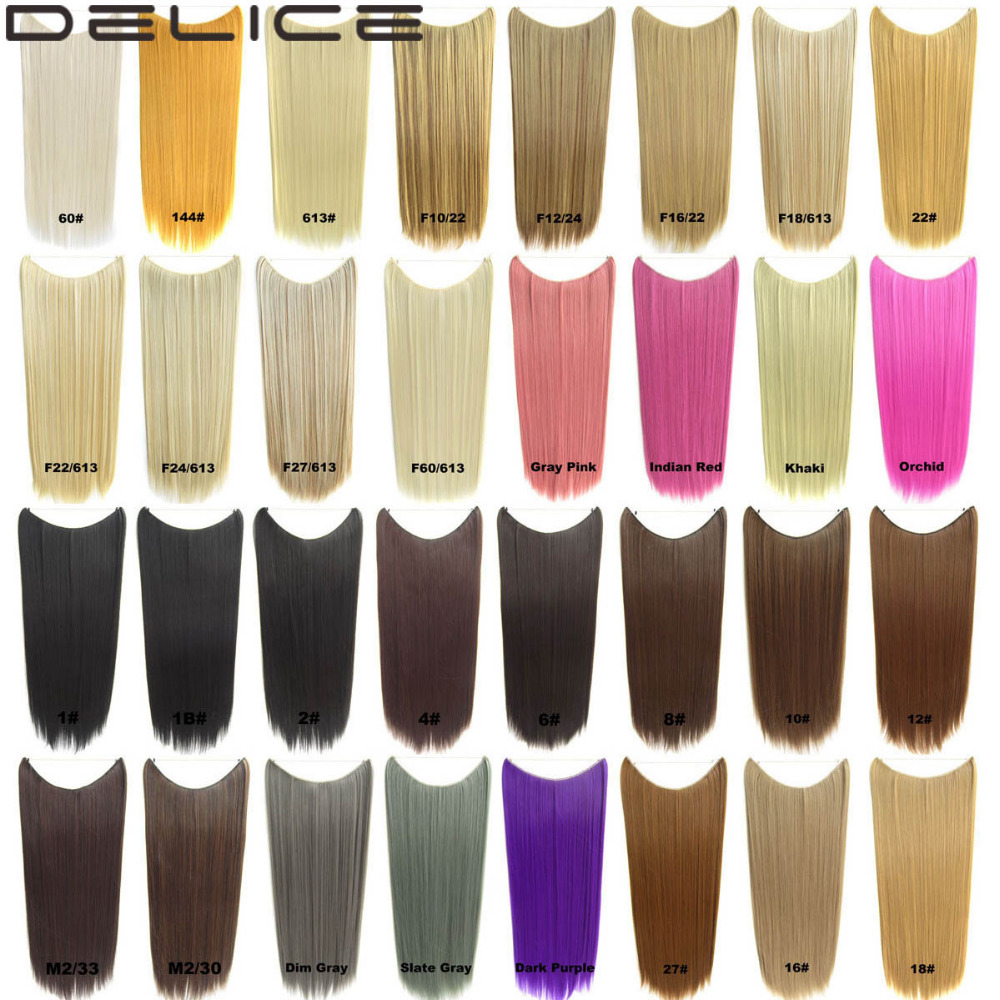 "24""/60cm (No clips) 100g/piece Synthetic Long straight ..."