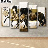 5pc Full Diamond 5D DIY Diamond Painting Leaves Diamond Embroidery Cross Stitch Mosaic Painting Living Room