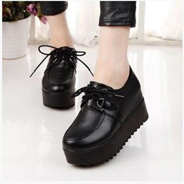 d3e6e4f75 Новый 2016 весна мода женщины тяжелая - дном обувь на высоком каблуке платформа  обуви лифты свободного