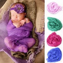Newborn Photography Props Infant Baby Boy Girl Soft Photo Wrap Cloth Bebe Potografia Accesories Blanket 180*100cm(China)