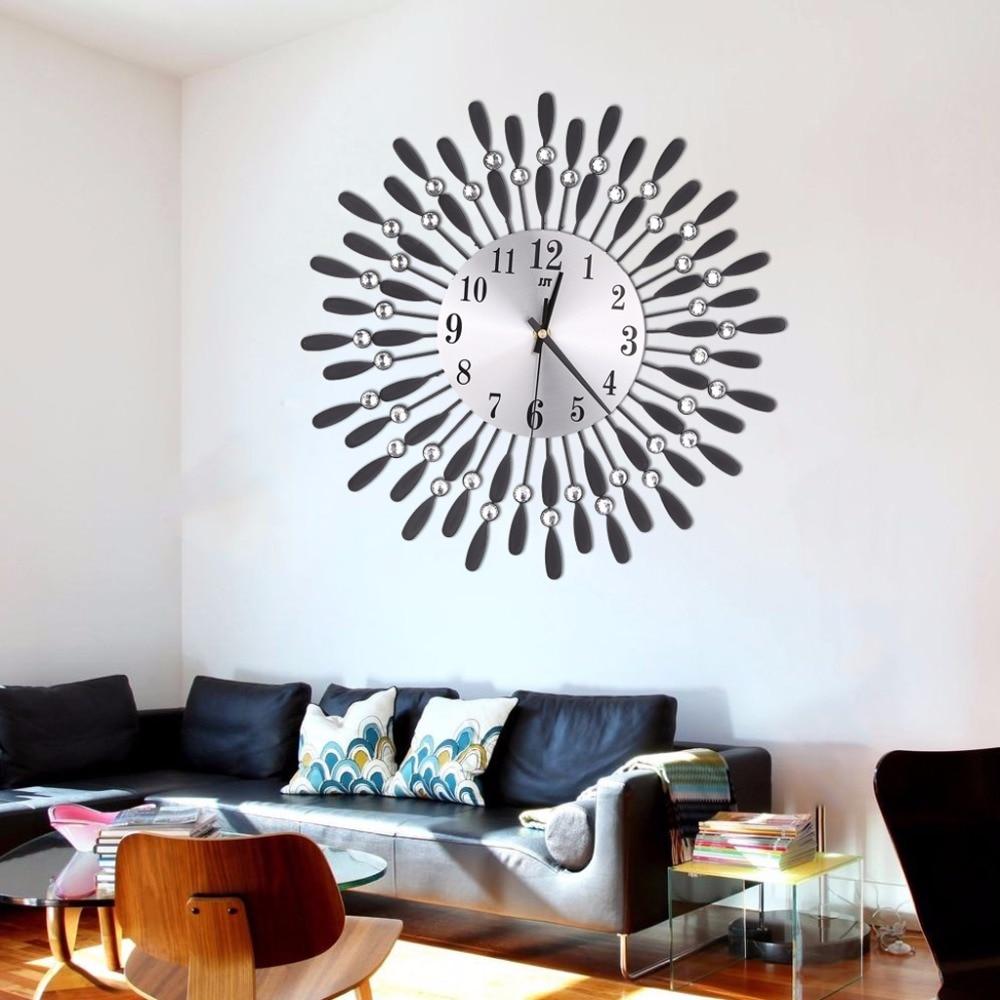 Kunst Luxus Diamant Moderne Metall Wanduhr Große Wand Home ...