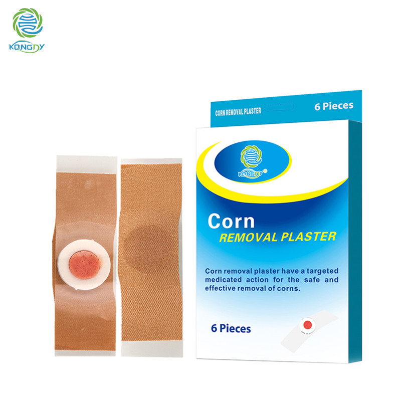 KONGDY New Arrival 6 Pieces/Box Foot Remover Pad Feet Medical Plaster Foot Corn Removal Patch Health Care Pain Relief Patch nicorette coated gum 2mg 100 pieces fresh mint personal healthcare health care