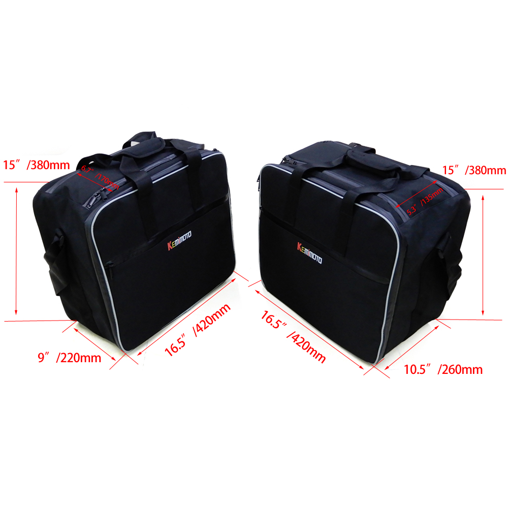 Aliexpress com buy kemimoto motorcycle inner bags black pvc luggage bags for bmw r1200 gs water cooled lc 2013 2014 2015 2016 2017 after market from