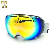 Катание на лыжах goggle мотокросс очки uv400 мотоцикл очки двойной линзы противотуманные сноуборд маска UV400 катание googles